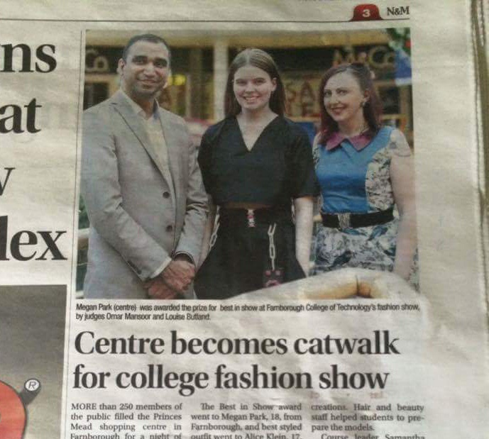 Presenting Awards For Farnborough College Fashion Students