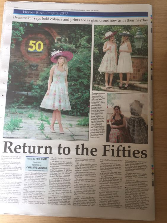 Newpaper Article: The Henley Standard
