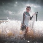 bride in the sea