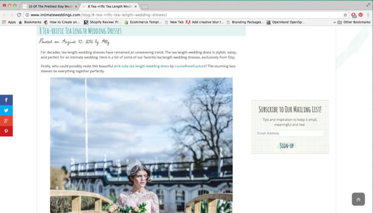 Intimate Weddings Feature