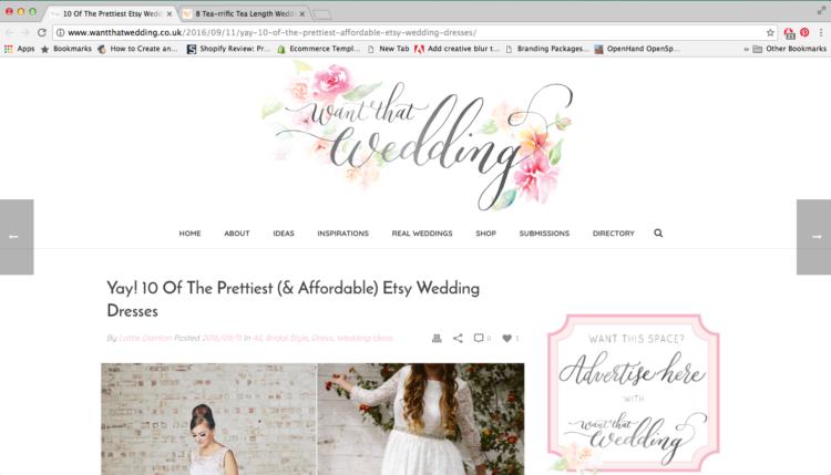 want that wedding blog