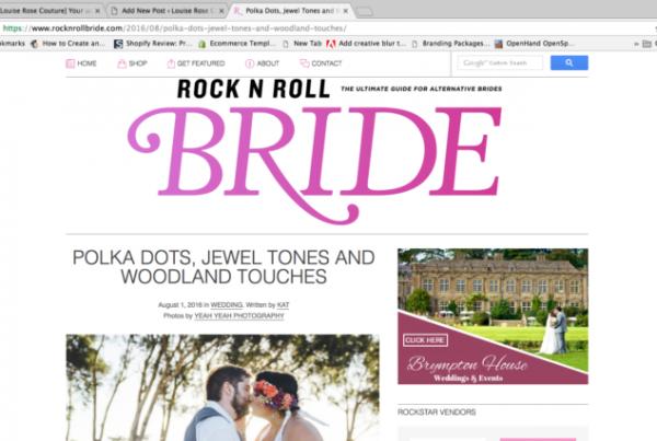 Rock N Roll Bride 50s dress