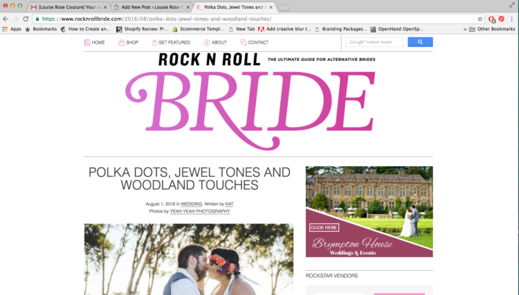 Blog Feature: Rock N Roll Bride