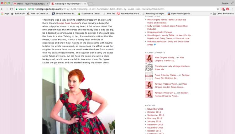 Miss Ginger Tulips Blogger