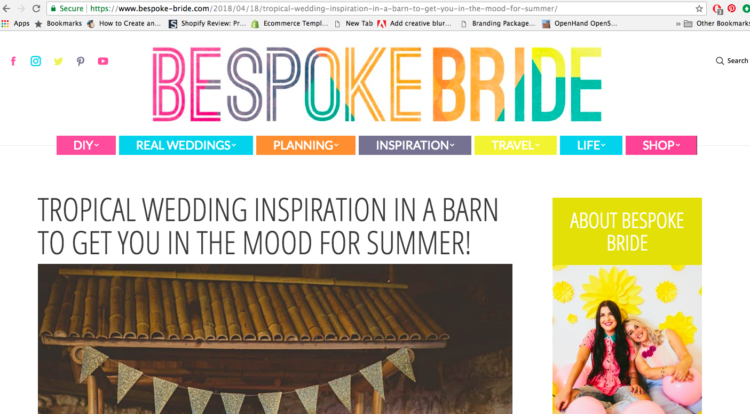 Blog Feature: Bespoke Bride