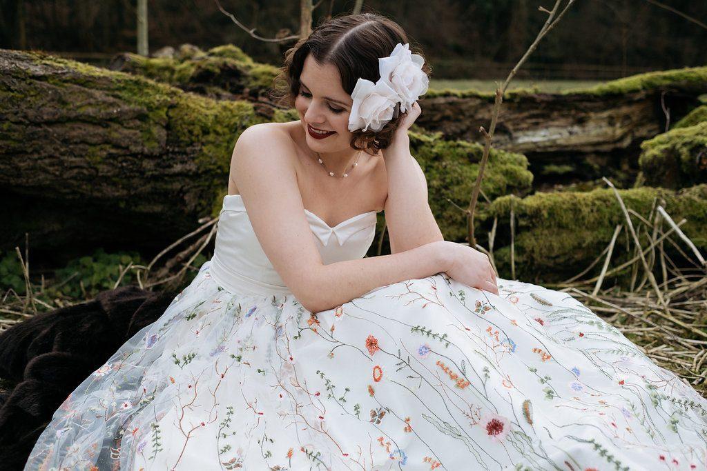 coloured wedding dress
