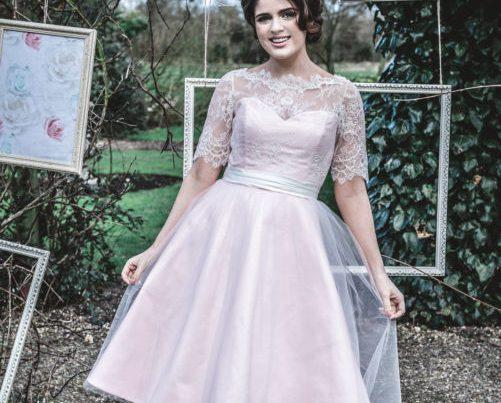 50s wedding gown