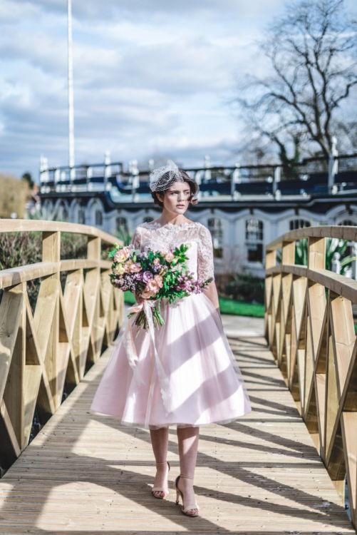 fifties wedding dress