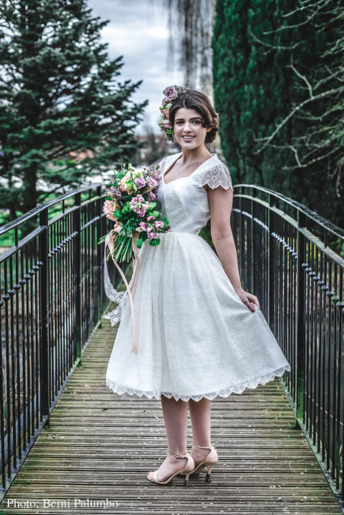 50s inspired wedding dress