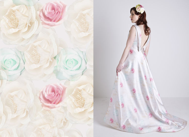 digital print gown