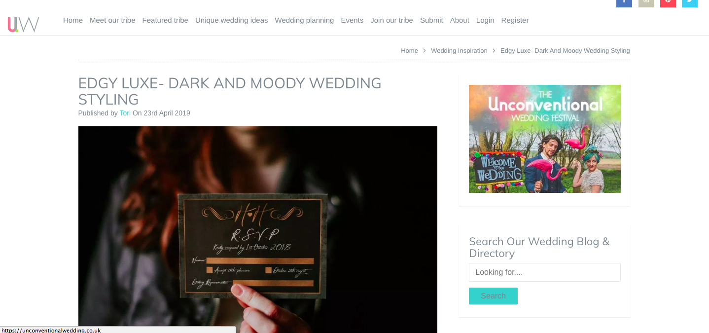Blog Feature: Unconventional Wedding