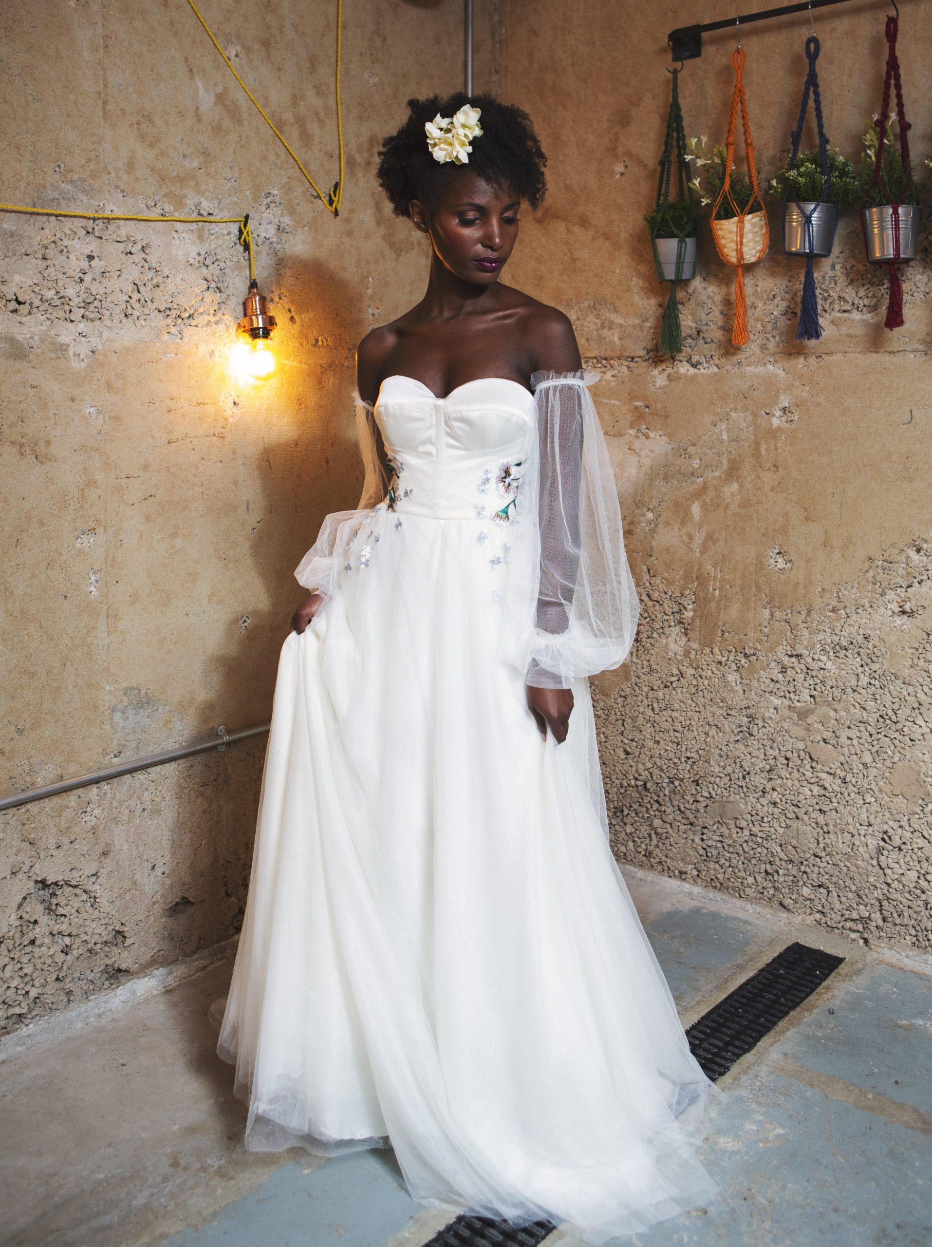 bespoke ethereal wedding dress