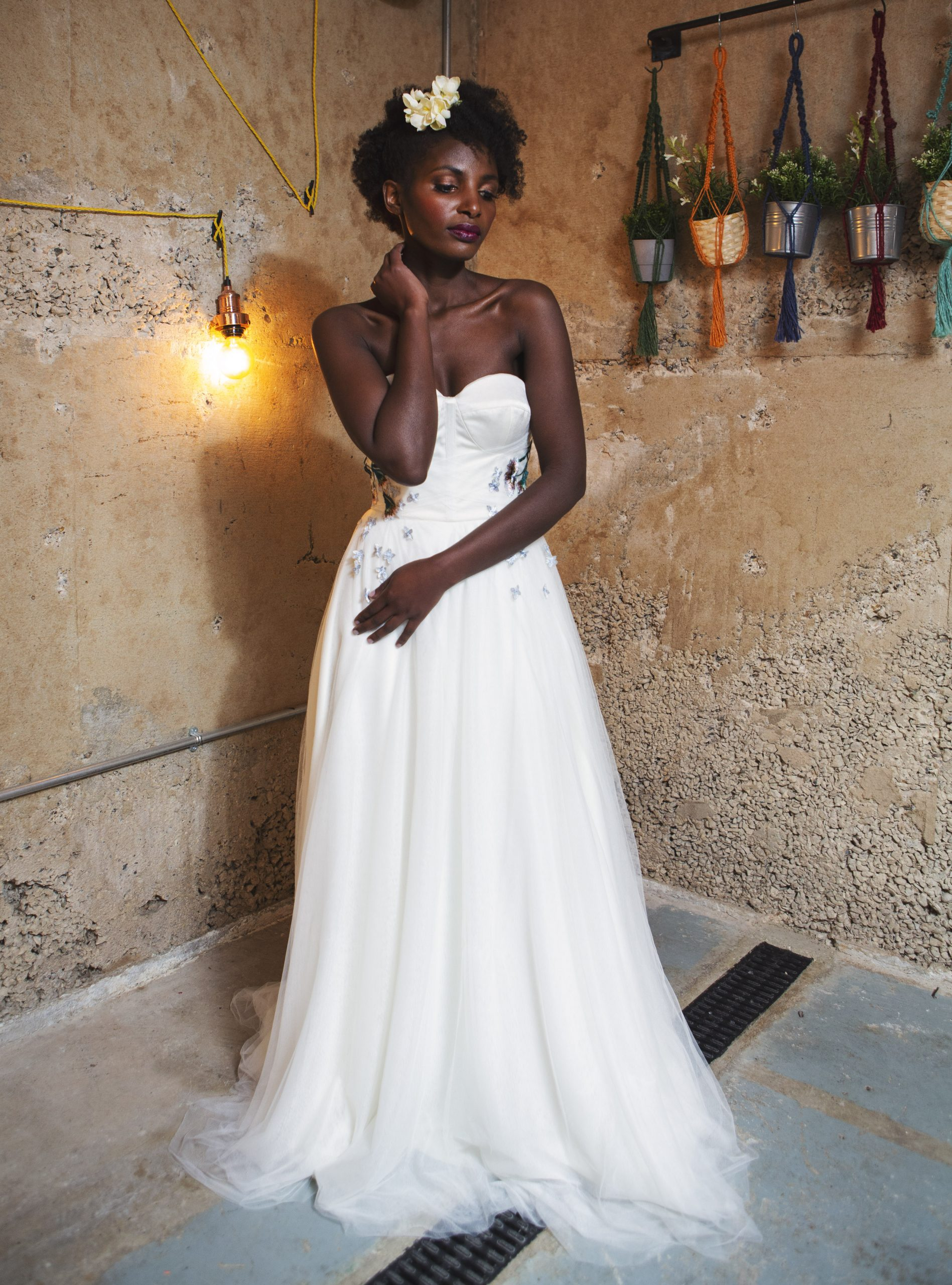 wedding dress with colour