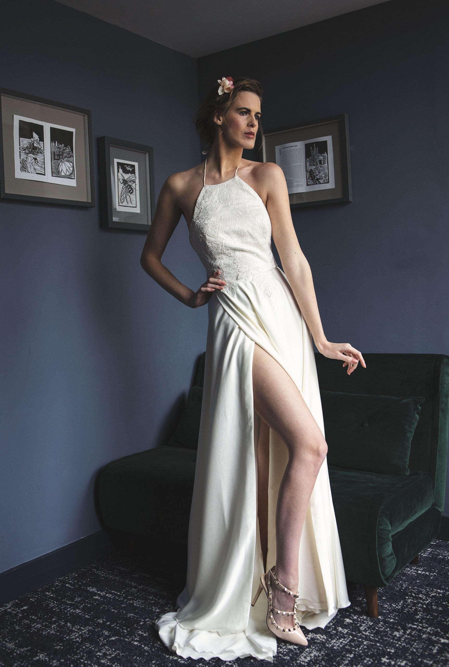 side split wedding dress