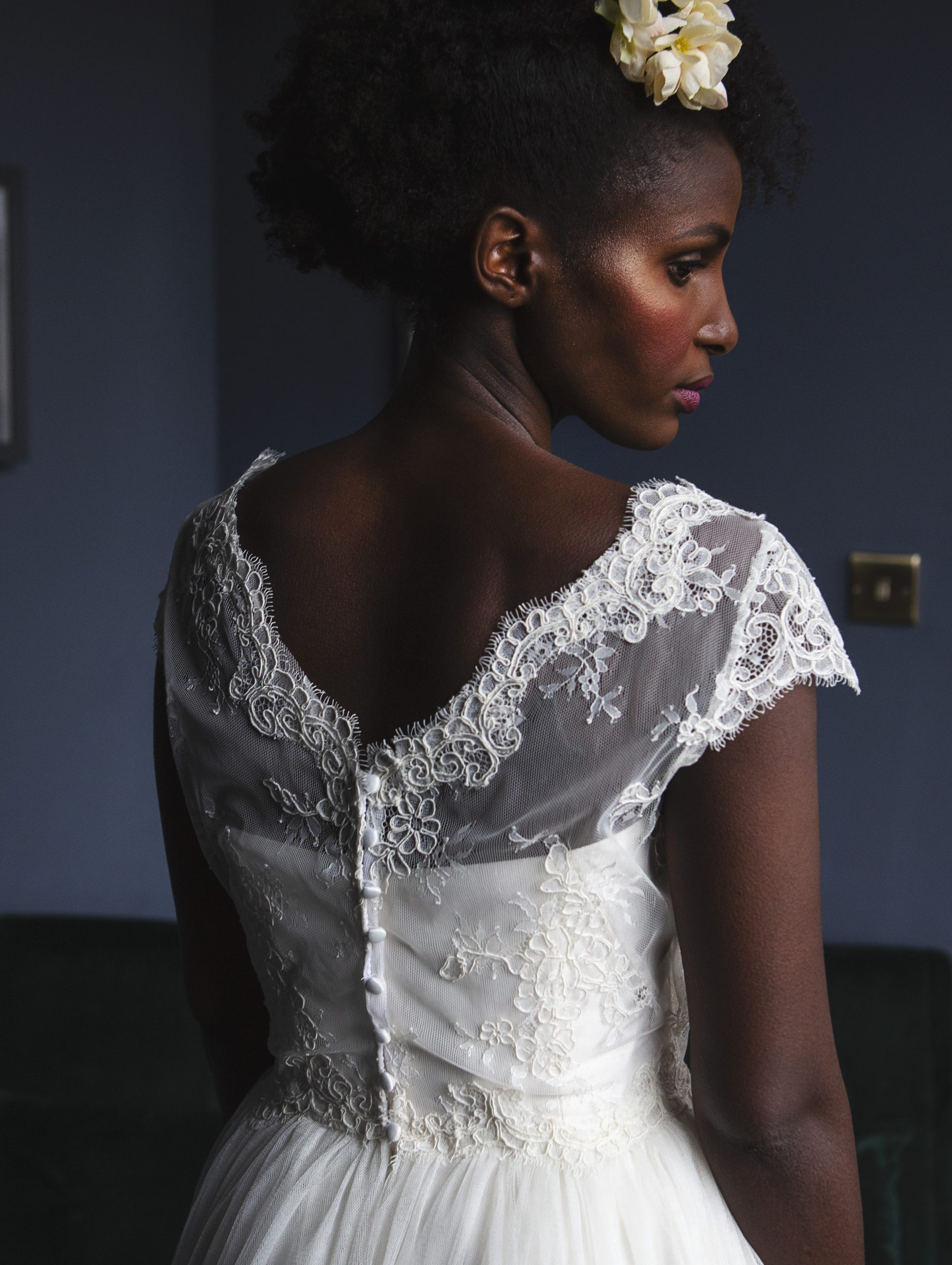 corded lace wedding dress