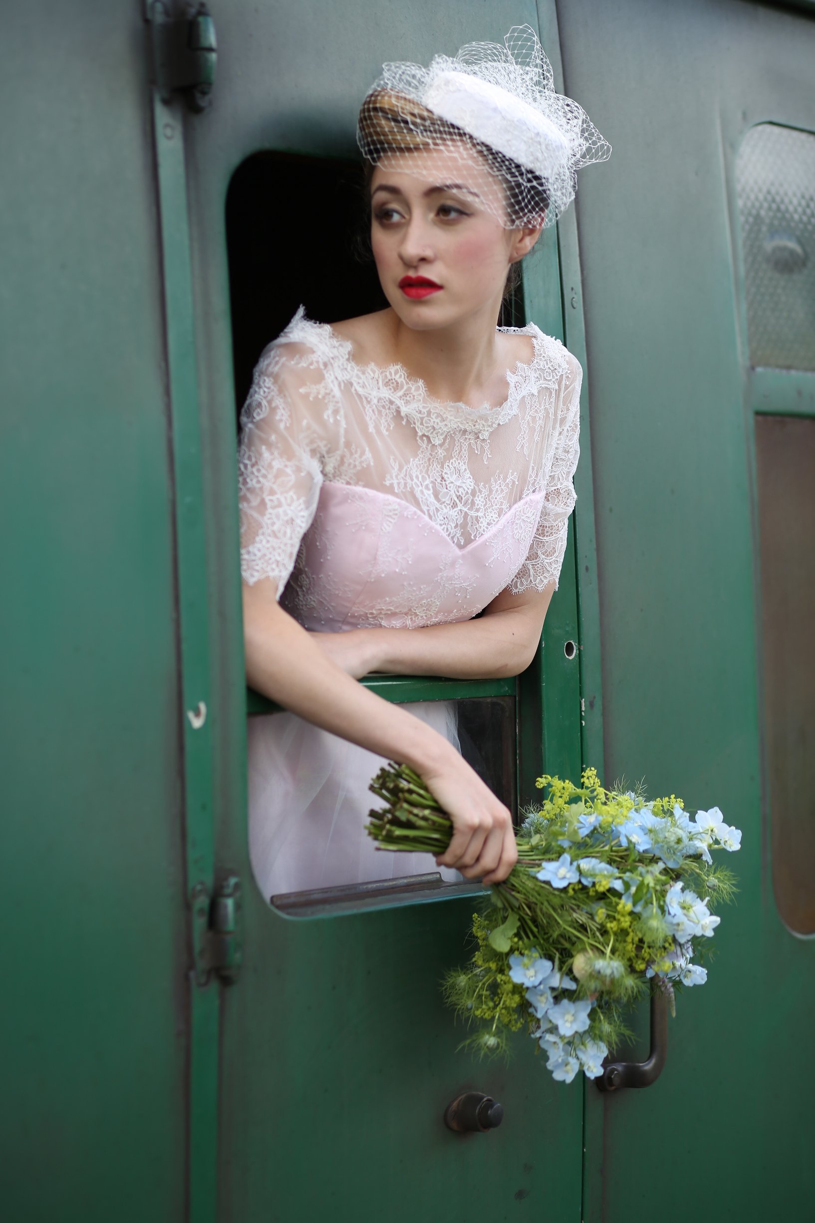 vintage railway wedding